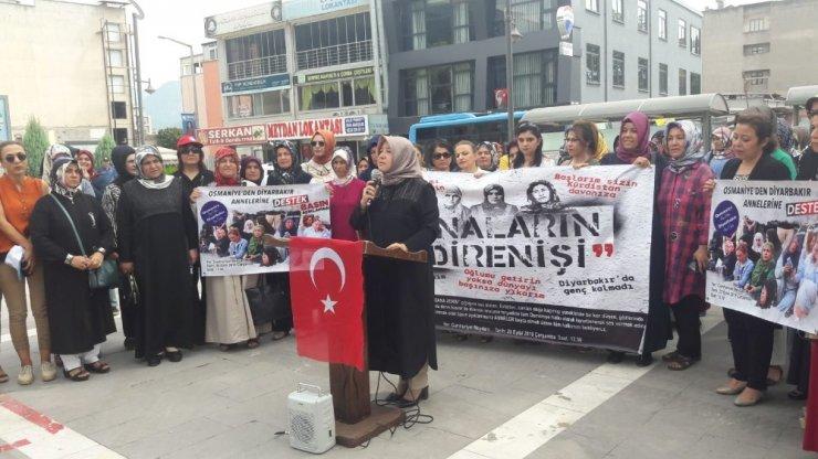 Osmaniyeli kadınlardan Diyarbakır annelerine destek