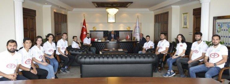 Grizu-263 BEÜ Rektörü Çufalı'yı ziyaret etti