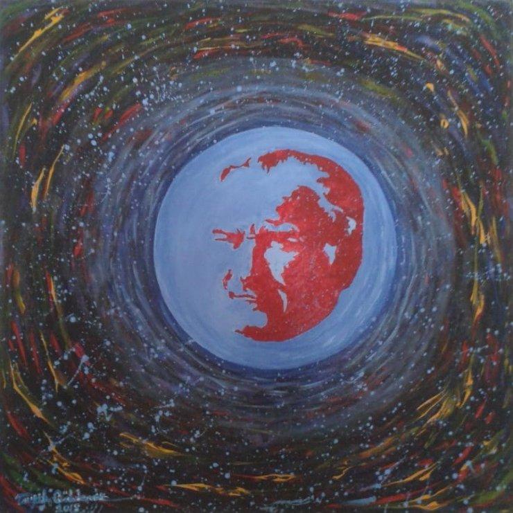"""Adanalı ressam """"Dünya Lideri"""" ile uluslararası sergide"""