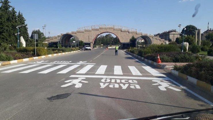 Üniversite kampusunda trafik düzenlemesi yapıldı