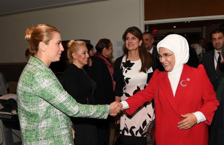 """Emine Erdoğan, New York'ta """"Sıfır Atık'la İlgili Ulusal Girişimler Neden Önemli?"""" etkinliğine katıldı"""