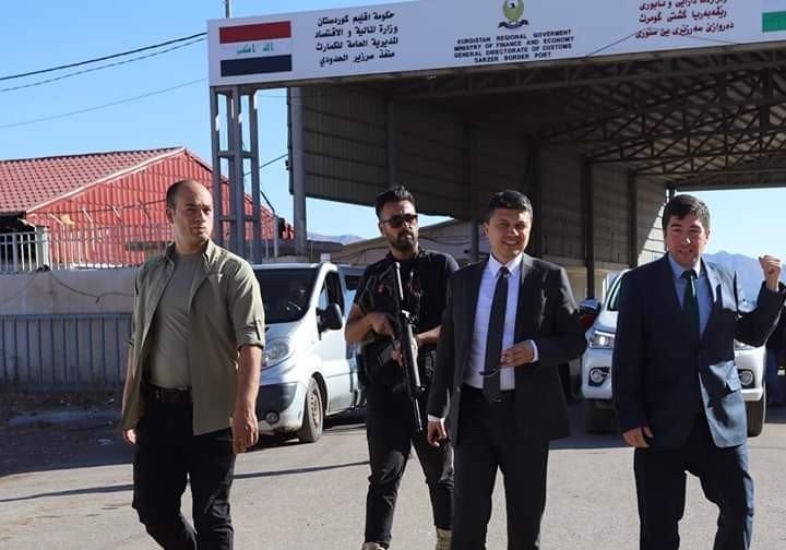 Kaymakam Öztürk'ten Üzümlü Sınır Kapısı'na ziyaret