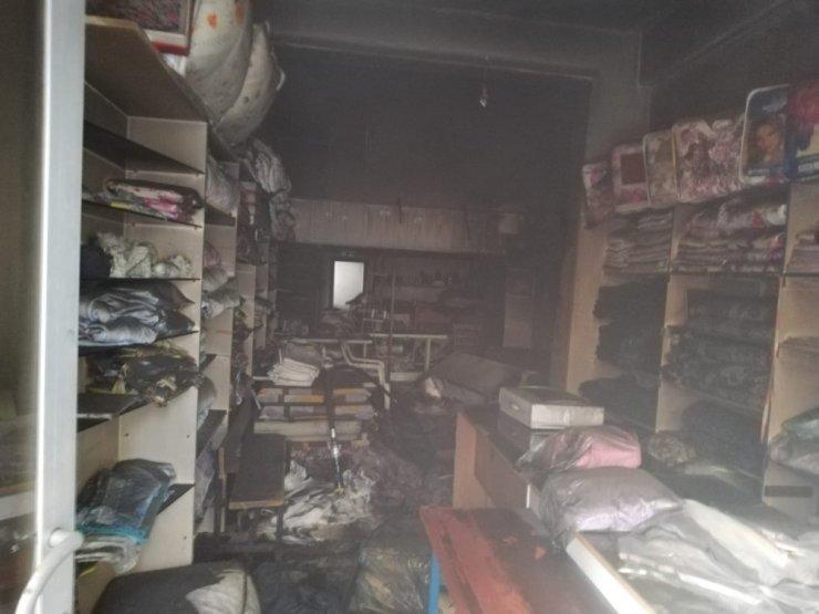 Hatay'da iş yeri yangını