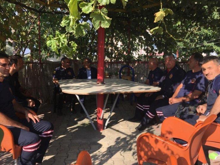 Başkan Akkaya'dan itfayecilere ziyaret