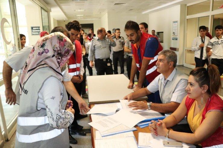 Siirt Devlet Hastanesinde yangın tatbikatı gerçeği aratmadı