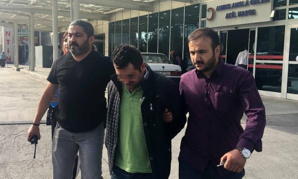 Konya'da keserli soyguncu kameralara yakalandı