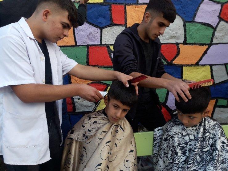 Silvanlı öğrencilere ücretsiz saç bakımı