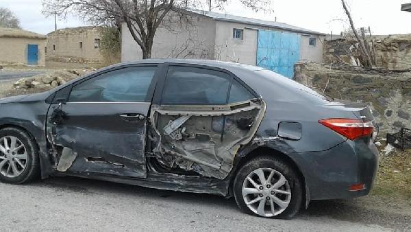 Kendi tabancasıyla vurulan sürücünün otomobili Kaymakam'ın makam aracına çarptı