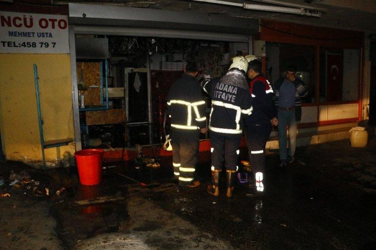 Oto anahtar dükkanında yangın: 1 kişi dumandan zehirlendi