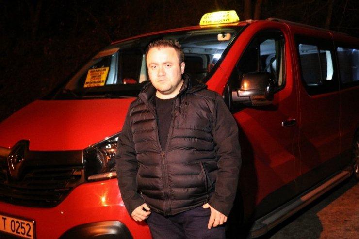 Boğazına şeker kaçan çocuğu hastaneye götüren dolmuş şoförü o anları anlattı