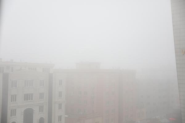 Gaziantep'te ulaşıma sis engeli