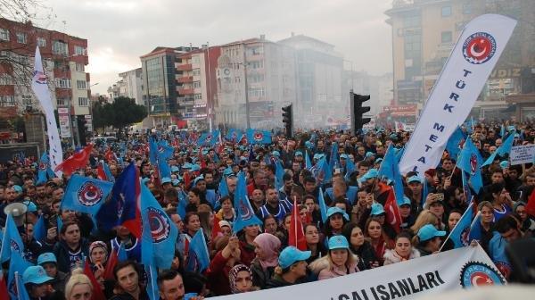 Türk Metal Sendikası'ndan 'toplu sözleşme' eylemi