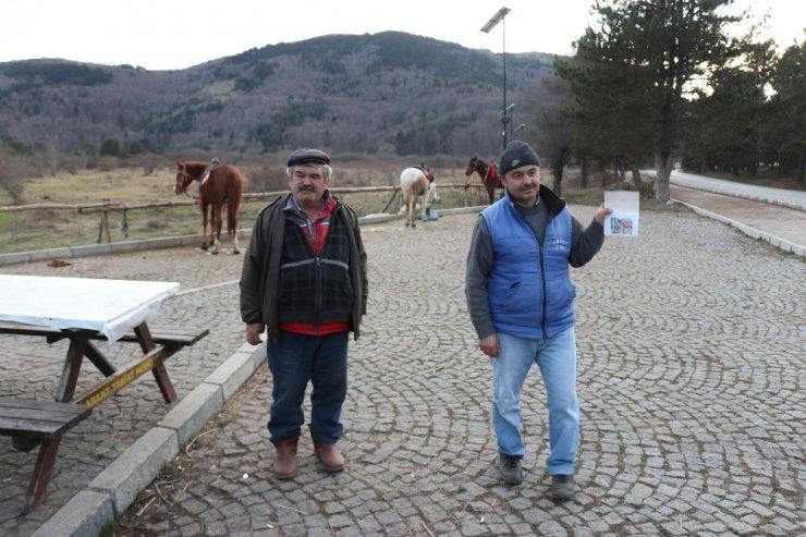 Abant Tabiat Parkı'ndaki at sahipleri konuştu