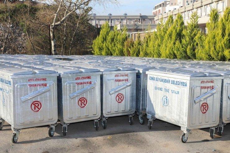 Buca'ya 310 yeni konteyner