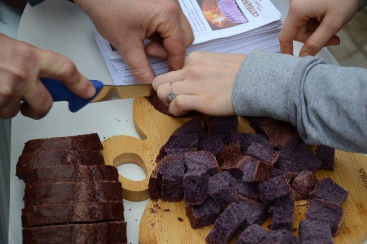 Mor ekmek Edirne'de de üretilmeye başlandı