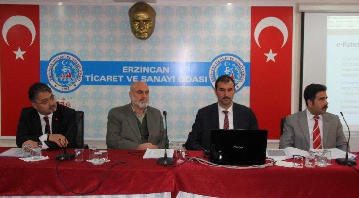 Erzincan'da vergi usul kanunu bilgilendirilmesi yapıldı