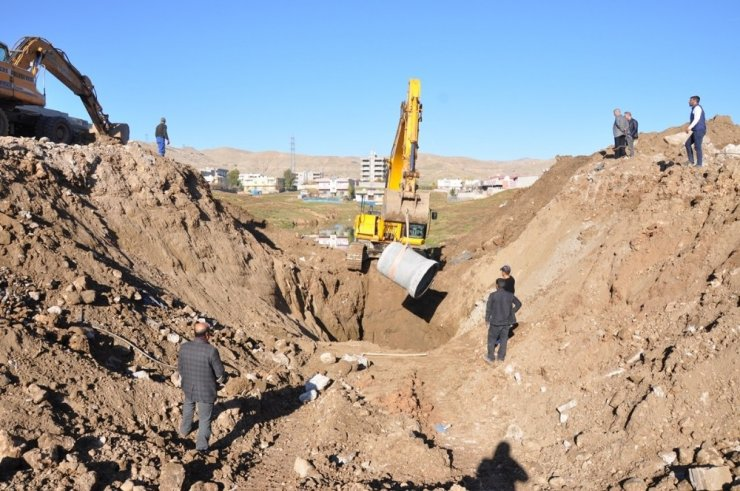 Cizre'de altyapı çalışmaları