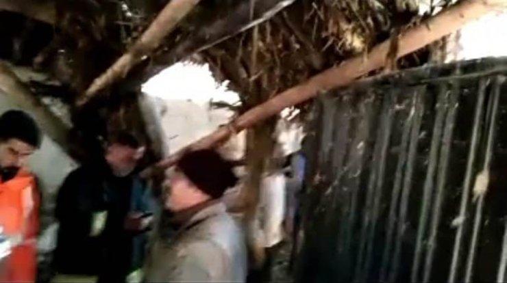 Van'da çöken ahırın altında kalan 22 küçükbaş hayvan kurtarıldı