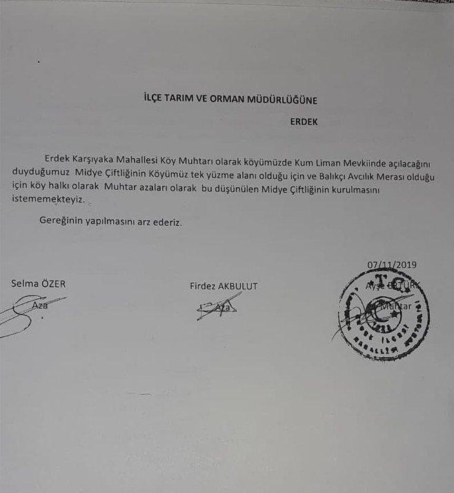 Vatandaşlar imza topladı, midye çiftliği projesi iptal edildi