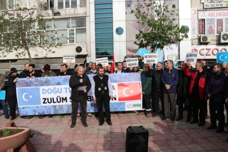 Kdz. Ereğli'de STK'lar Çin zulmüne tepki gösterdi