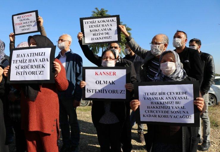 Çöp tesisine 'Maskeli' protesto
