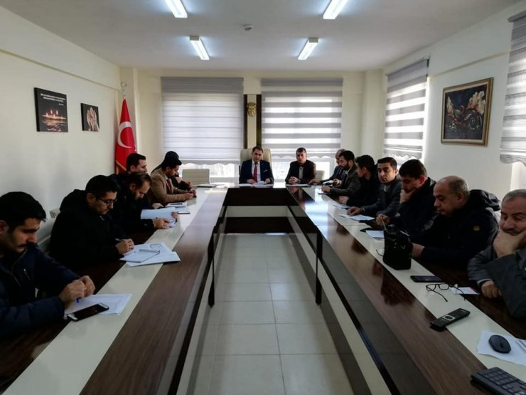 Gercüş'te okul idarecileri ile değerlendirme toplantısı