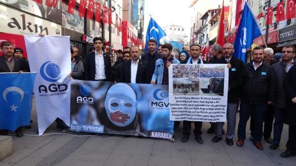 Doğu Türkistan'da ölen Müslümanlar için gıyabi cenaze namazı