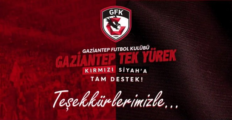 Gaziantep FK'ya destek gecesinde 240 bine yakın forma satıldı