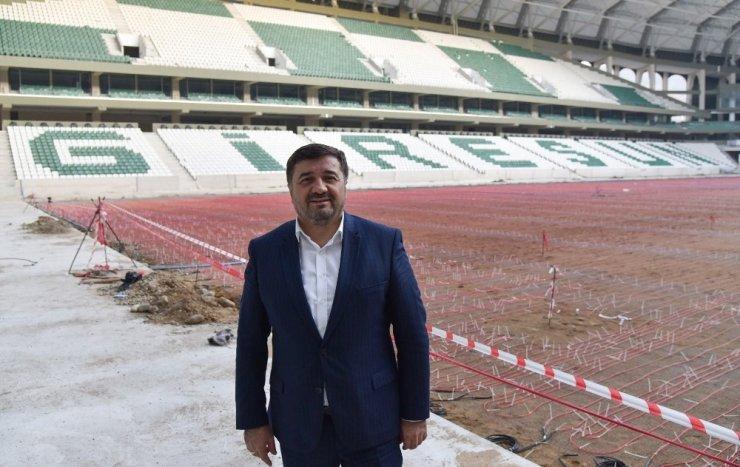 Giresun'un yeni stadı Mart ayında teslim ediliyor