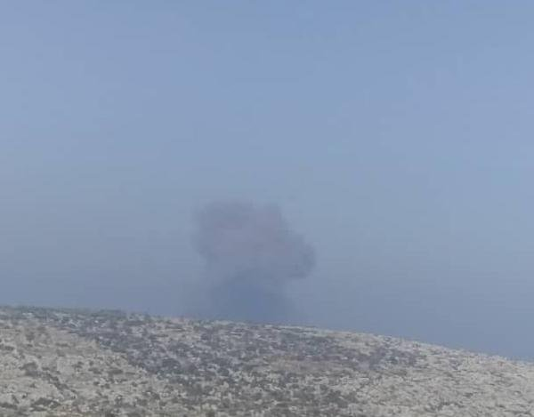İdlib kırsalında patlama