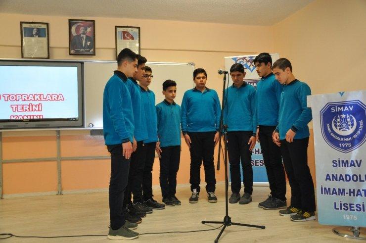 Yabancı uyruklu öğrencilerin İstiklal marşı coşkusu