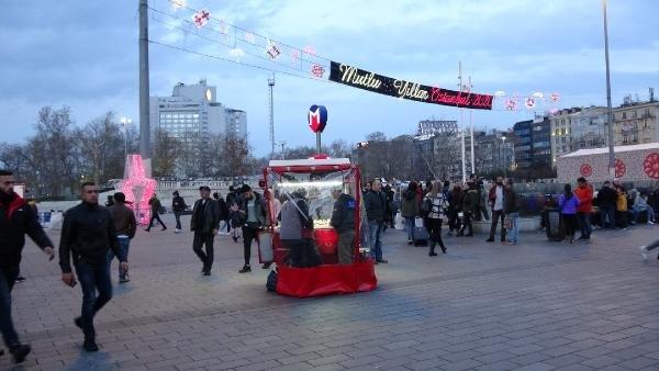 Taksim Meydanı'nda yeni yıl hazırlıkları