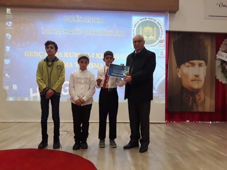 Kahta Kur'an-ı Kerim güzel okuma yarışmasında il birincisi oldu