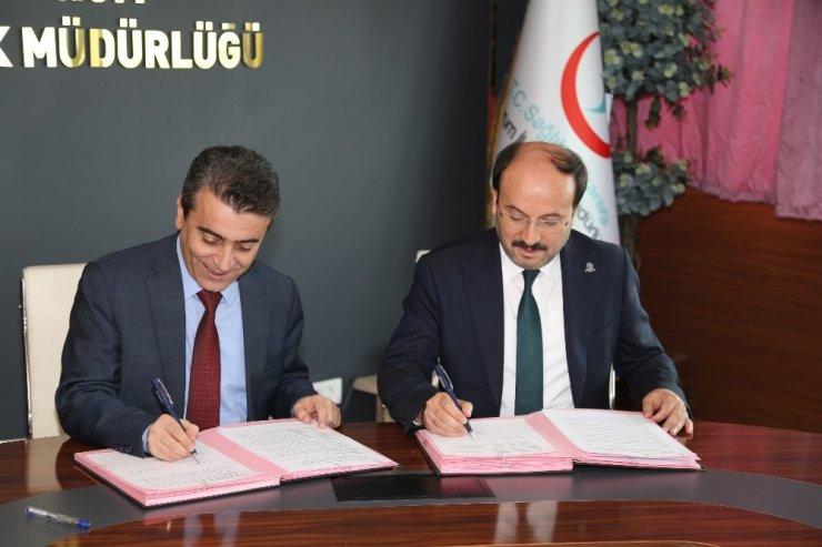 Erzurum Sağlık Müdürlüğü ve ETÜ arasında 'Sağlıklı Protokol'ü imzalandı