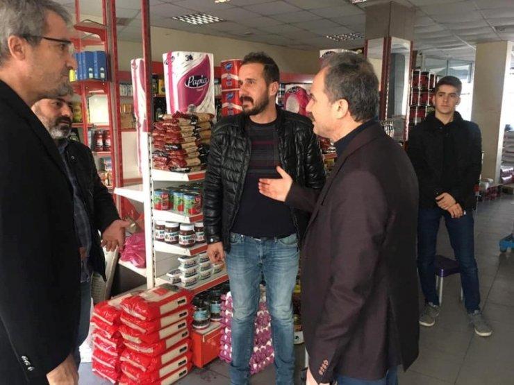 Başkan Kılınç, eski Samsat Caddesi esnafını ziyaret etti