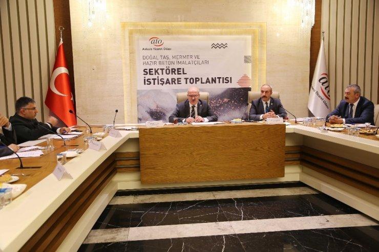 """ATO Başkanı Baran: """"Andezit taşı için coğrafi işaret tescili alacağız"""""""