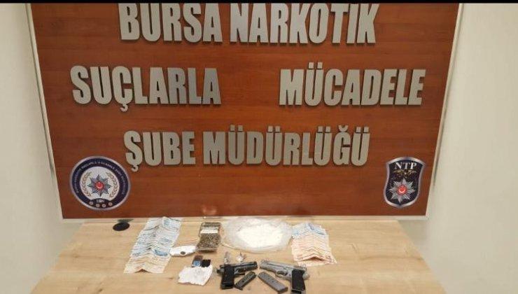 Bursa'da narkotik operasyonu: 5 şüpheli adliyede