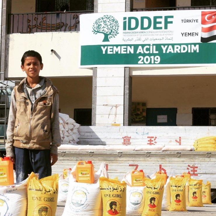 İDDEF'ten Yemen'deki mazlumlara destek devam ediyor