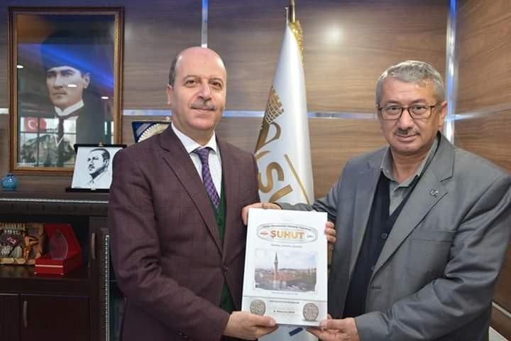 Şehidin babası ve silah arkadaşından Başkan Bozkurt'a ziyaret