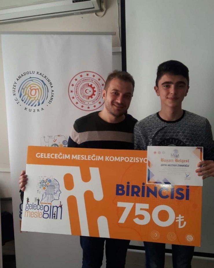 Türkelili öğrenciden kompozisyon yarışmasında il birinciliği