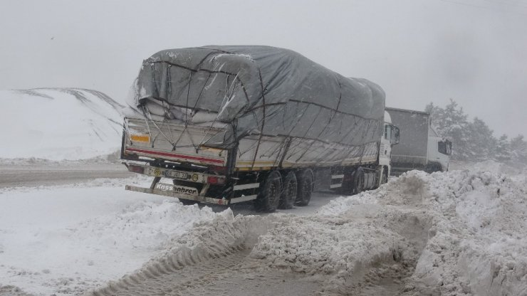 Kar yağışı ve tipi ulaşımı olumsuz etkiledi