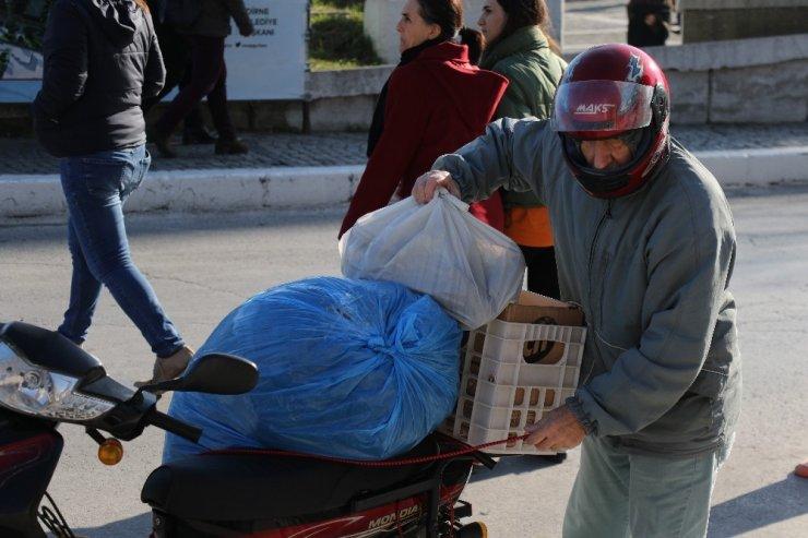 Edirneliler depremzedeler için tek yürek oldu