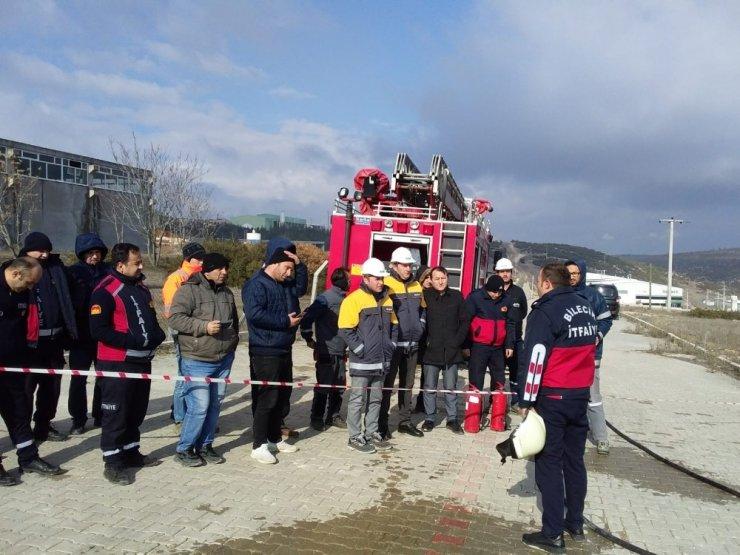 Doğalgaz yangınlarına karşı söndürme eğitimi