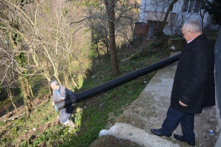 Güldere Mahallesi'nde kanalizasyon sorunu çözüldü