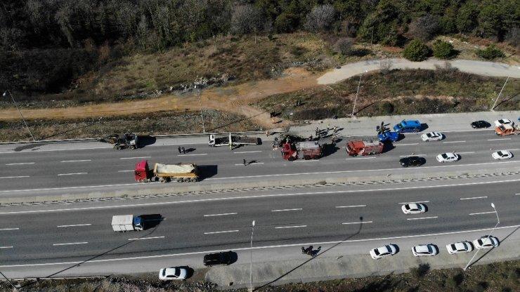 Şile yolunda feci kaza: 1 ölü, 2 yaralı