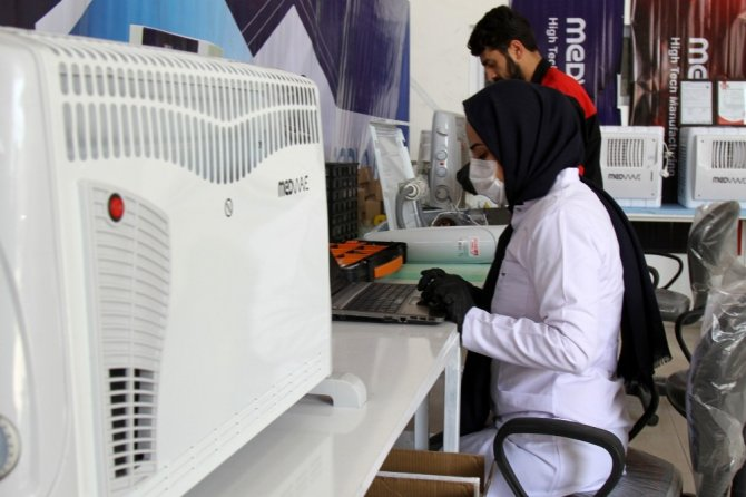 Korona virüsüne karşı ortam dezenfekte cihazı Van'da üretildi