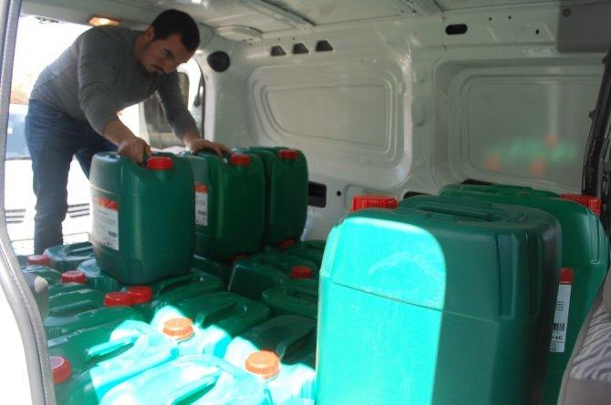 Tekirdağ'da 77 mahalleye dezenfektan dağıtıldı