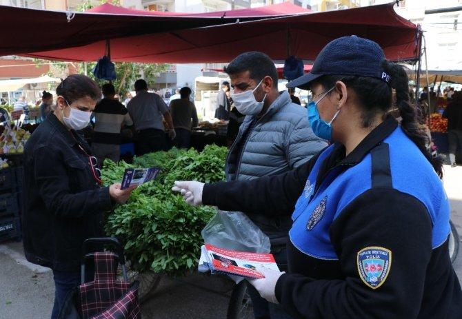Polisten pazar yerlerine 'Sosyal mesafe' denetimi
