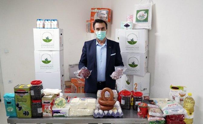Osmangazi'den ramazan için et ve süt ürünleri ile çocuklara özel paket