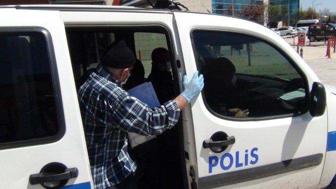 Yardımına polis yetişti